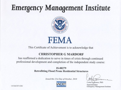 FEMA IS-019 certificate